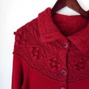 Anthropologie | Sleeping on Snow -Red knit sweater